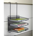 Onyx Mesh Panel Organizer Triple Tray