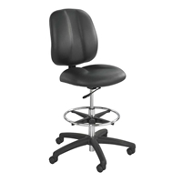 7084BL : safco Apprentice II Drafting Chair, Color: Black Vinyl