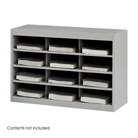 9254GR : Safco 12 Comp. E-Z Stor Steel Project Organizer
