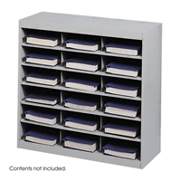 9264GR : Safco 18 Comp. E-Z Stor Steel Project Organizer