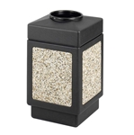 Canmeleon Receptacle Outdoor Series Aggregate Panel Top Opening Aggregate panel receptacle; Trash Can; Trash receptalce; Waste receptacle; Trash bin; Outdoor trash can; Outdoor waste receptacle; Outdoor receptacle; Plastic receptacle; Outdoor garbage can; Garbage can; Waste containers; Waste container