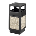 Canmeleon Receptacle Outdoor Series Aggregate Panel Side Opening Aggregate panel receptacle; Trash Can; Trash receptalce; Waste receptacle; Trash bin; Outdoor trash can; Outdoor waste receptacle; Outdoor receptacle; Plastic receptacle; Outdoor garbage can; Garbage can; Waste containers; Waste container