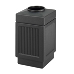 Canmeleon Recessed Panel Outdoor Receptacle Top Opening Recessed panel receptacle; Trash Can; Trash receptalce; Waste receptacle; Trash bin; Outdoor trash can; Outdoor waste receptacle; Outdoor receptacle; Plastic receptacle; Outdoor garbage can; Garbage can; Waste containers; Waste container