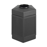 Canmeleon Pentagon Black Waste Receptacle, 45 Gallon Trash Can; Trash receptalce; Waste receptacle; Trash bin; Outdoor trash can; Outdoor waste receptacle; Outdoor receptacle; Plastic receptacle; Outdoor garbage can; Garbage can; Waste containers; Waste container