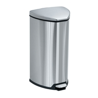 Stainless Step-On 7 Gallon Receptacle Trash can; Garbage can; Trash cans; Waste can; Waste basket; Wasbasket; Trash bins; Trash collection; Trash collection bins;  Steel trash can; Steel garbage can; Waste receptacle; Step on trash can; Step on garbage can; Step on waste receptacle