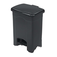 Plastic Step-On Waste Receptacle Trash can; Garbage can; Trash cans; Waste can; Waste basket; Wasbasket; Trash bins; Trash collection; Trash collection bins;  Plastic trash can; Plastic garbage can; Waste receptacle; Step on trash can; Step on garbage can; Step on waste receptacle