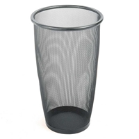 9 Gallon Mesh Receptacle Trash can; Garbage can; Trash cans; Waste can; Waste basket; Wasbasket; Trash bins; Trash collection; Trash collection bins;  Mesh trash can; Mesh garbage can; Waste receptacle