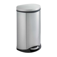 Ellipse Step On Can 12.5 Gallon Trash can; Garbage can; Trash cans; Waste can; Waste basket; Wasbasket; Trash bins; Trash collection; Trash collection bins;  Steel trash can; Steel garbage can; Waste receptacle; Step on trash can; Step on garbage can; Step on waste receptacle