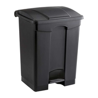 Plastic Step-On Can - 17 Gallon Trash can; Garbage can; Trash cans; Waste can; Waste basket; Wasbasket; Trash bins; Trash collection; Trash collection bins;  Plastic trash can; Plastic garbage can; Waste receptacle; Step on trash can; Step on garbage can; Step on waste receptacle