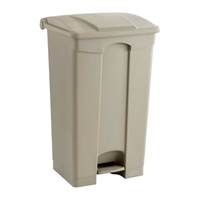 Plastic Step-On Can - 23 Gallon Trash can; Garbage can; Trash cans; Waste can; Waste basket; Wasbasket; Trash bins; Trash collection; Trash collection bins;  Plastic trash can; Plastic garbage can; Waste receptacle; Step on trash can; Step on garbage can; Step on waste receptacle