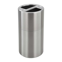 Dual Recycling Receptacle Recycling receptacles; Recycling collection cans; Trash can; Garbage can; Recycling can; Trash cans; Waste can; Waste basket; Wasbasket; Recycling center; Recycling bins; Trash bins; Recycling center bins; Recyling center; Trash collection; Trash collection bins; Trash collection center; Break room recycling; Breakroom recycling; Office recycling