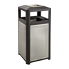 Evos Series Steel 38 Gallon Ash and Trash Receptacle Trash Can; Trash receptalce; Waste receptacle; Trash bin; Outdoor trash can; Outdoor waste receptacle; Outdoor receptacle; Steel receptacle; Outdoor garbage can; Garbage can; Waste containers; Waste container; Ash urn; Cigarette disposal