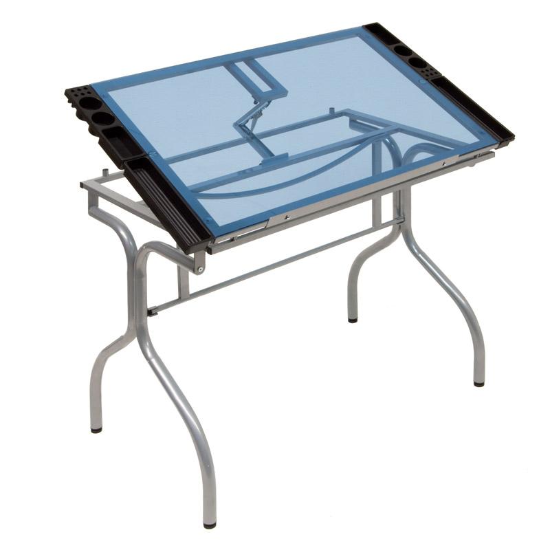 Folding Glass Top Craft Station 13220