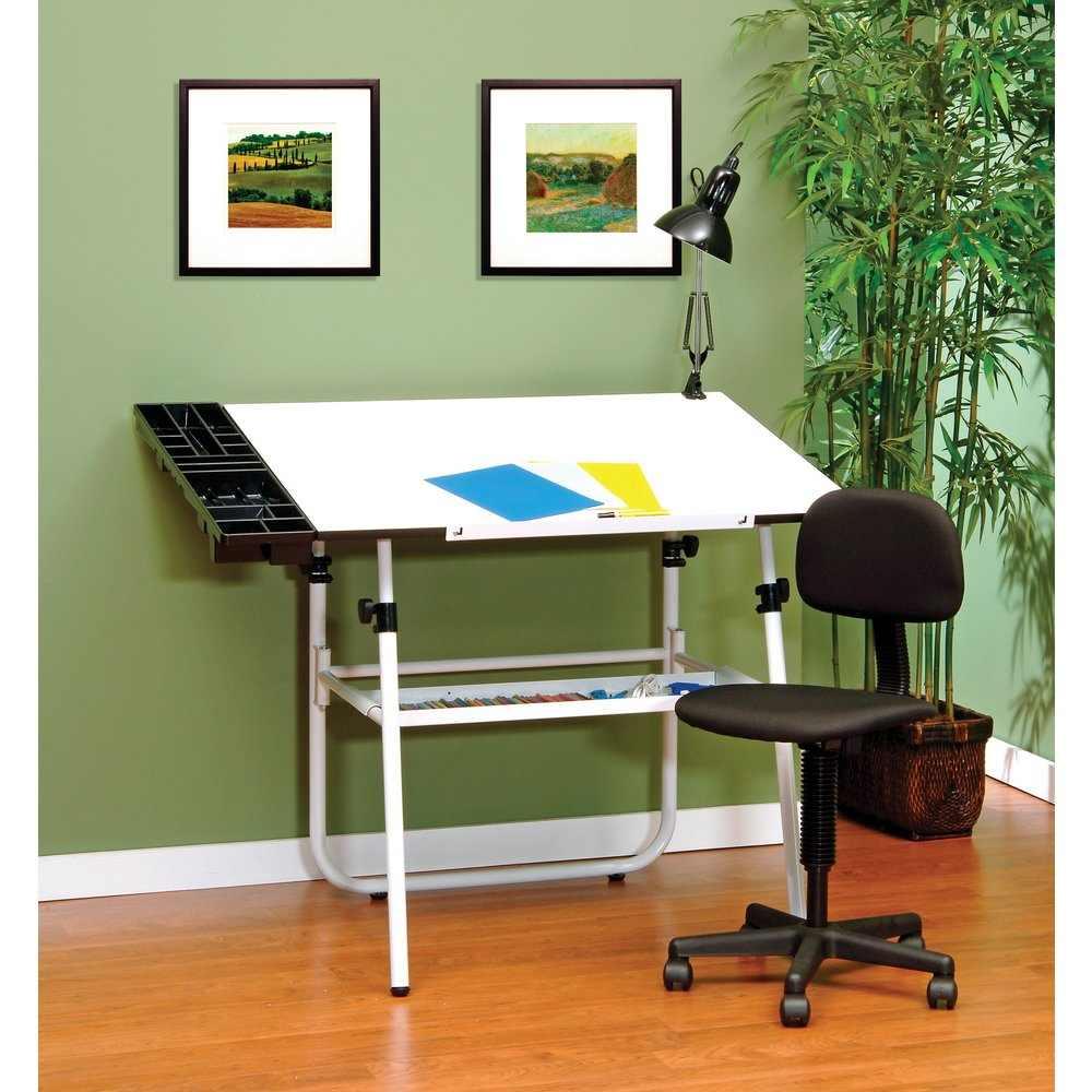 Studio Designs 4 Piece 30 X 42 Ultima Drafting Desk Set In White