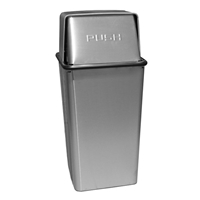 21 Gallon Push Top Wastewatcher, Color: Stainless Steel