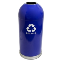 Dome Top Recycling Receptacle, Color: Blue