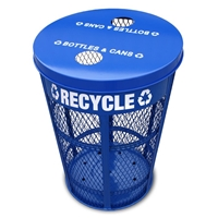 Expanded Metal Recycle Container